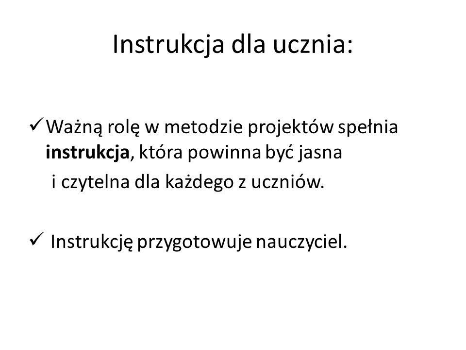 Instrukcja dla ucznia: