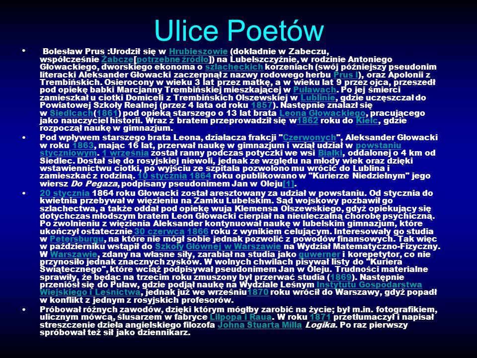 Ulice Poetów