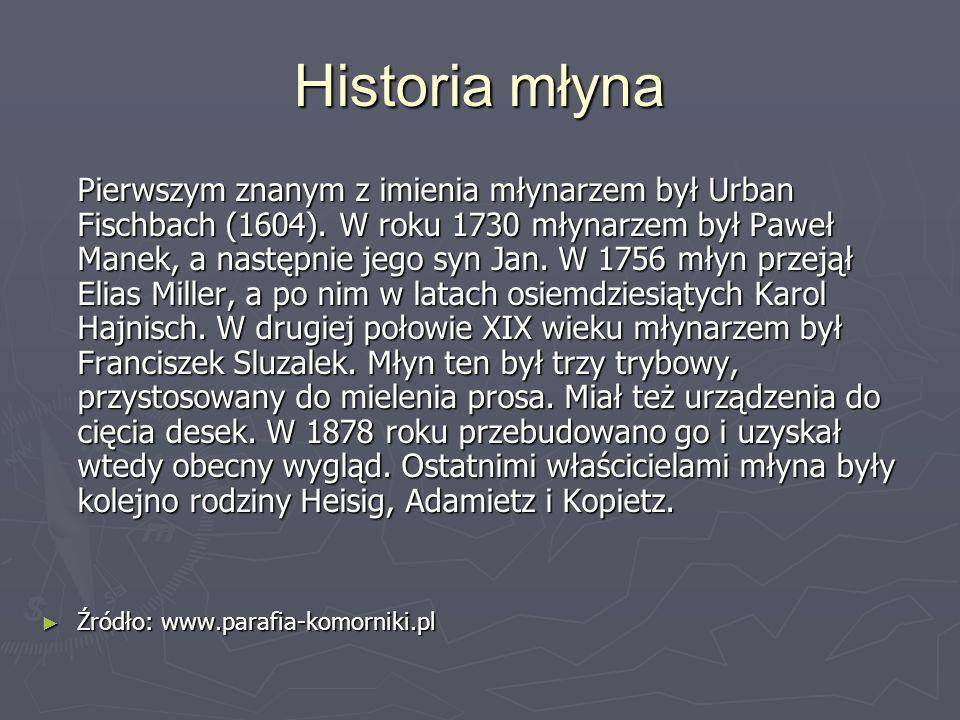 Historia młyna