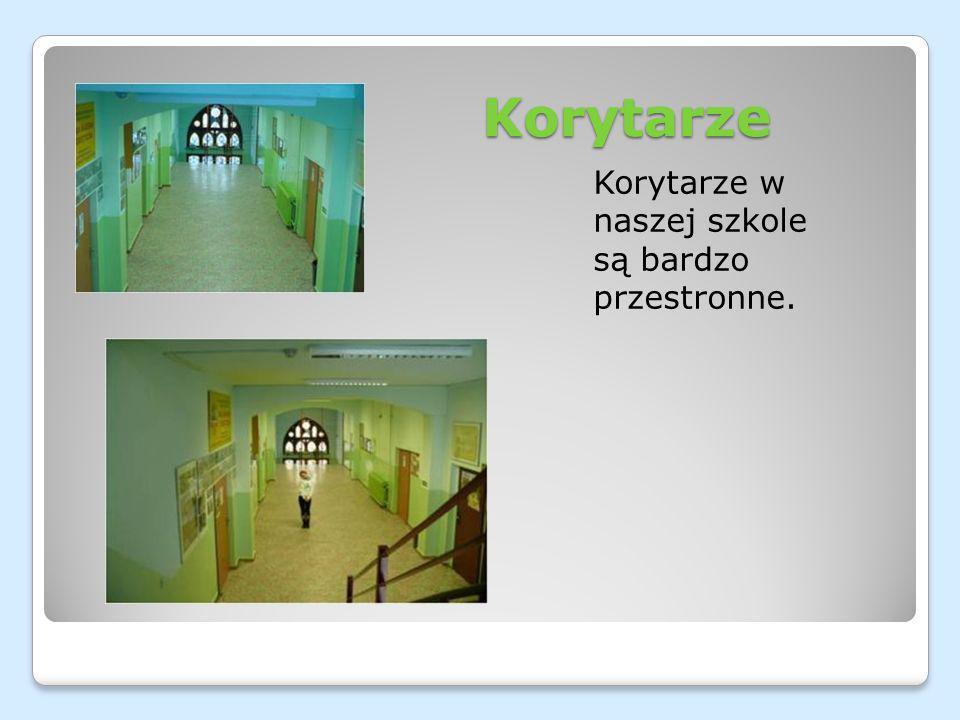 Korytarze Korytarze w naszej szkole są bardzo przestronne.
