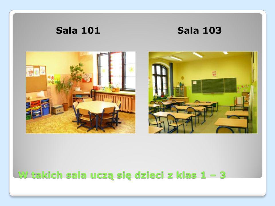 W takich sala uczą się dzieci z klas 1 – 3