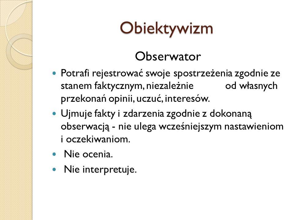 Obiektywizm Obserwator