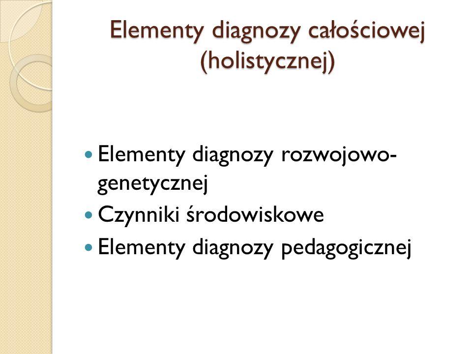Elementy diagnozy całościowej (holistycznej)