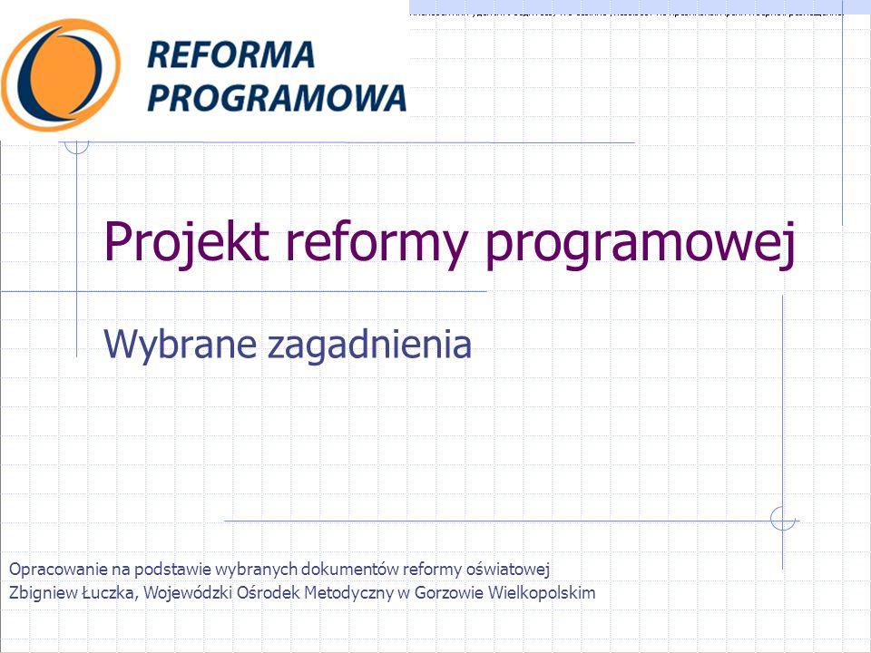 Projekt reformy programowej