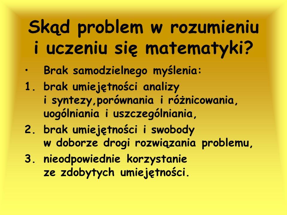 Skąd problem w rozumieniu i uczeniu się matematyki
