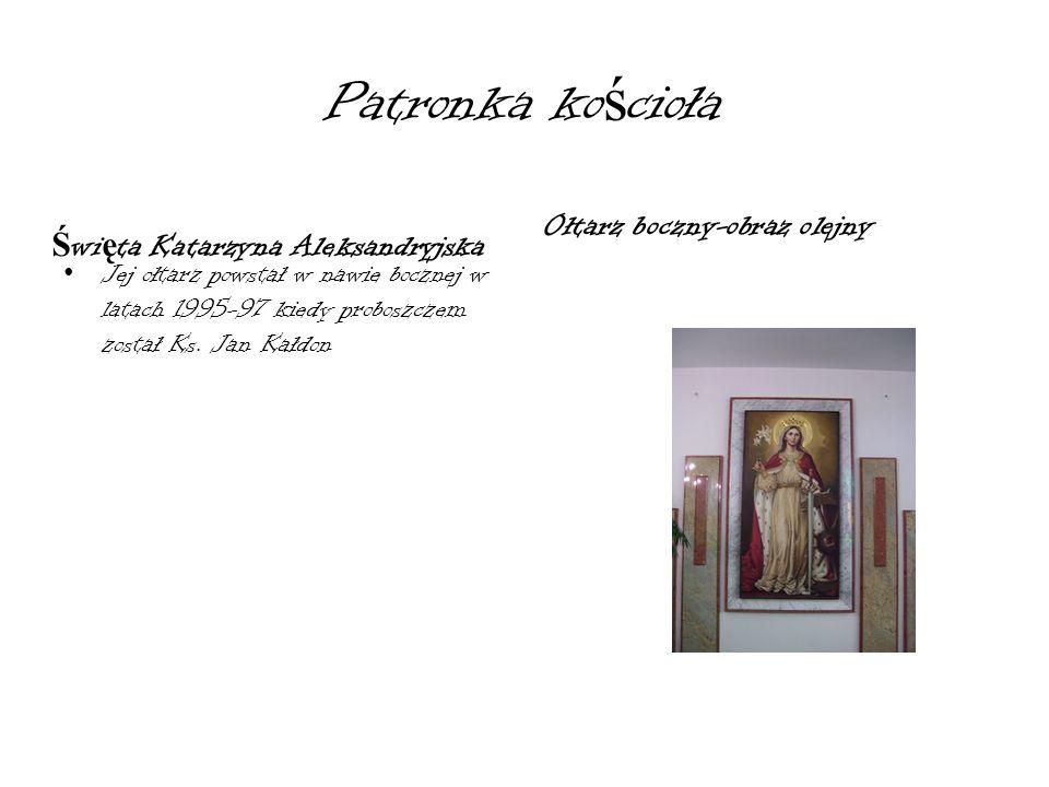Patronka kościoła Ołtarz boczny-obraz olejny