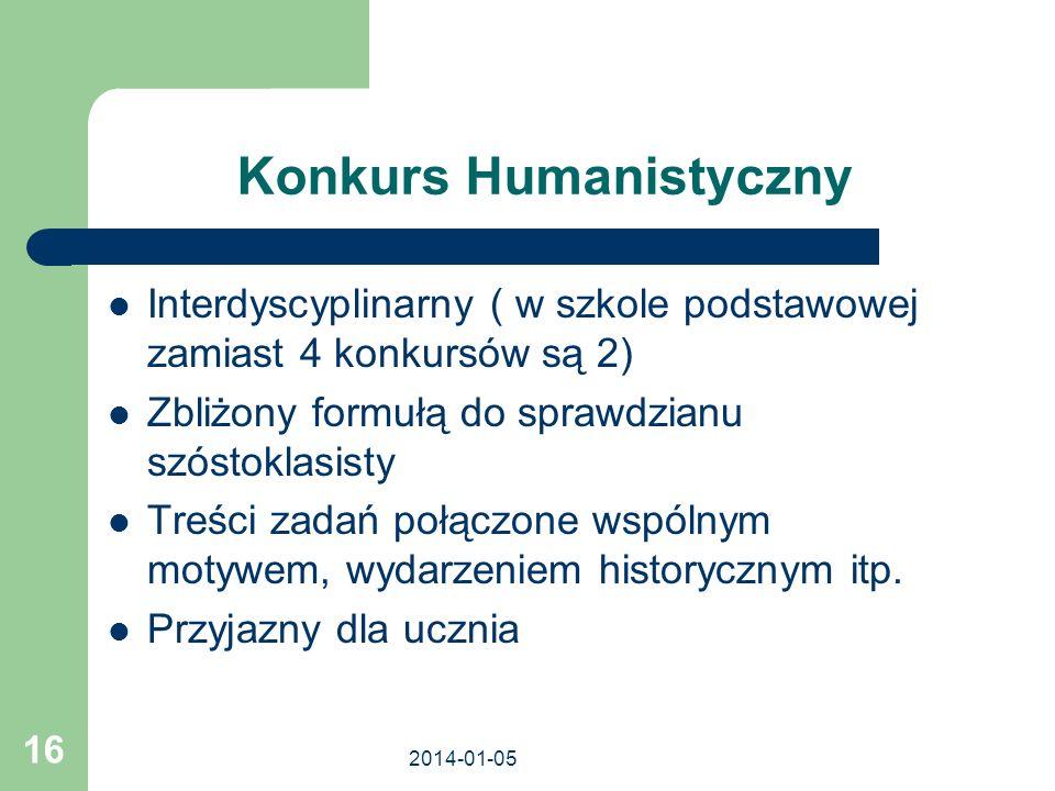 Konkurs Humanistyczny