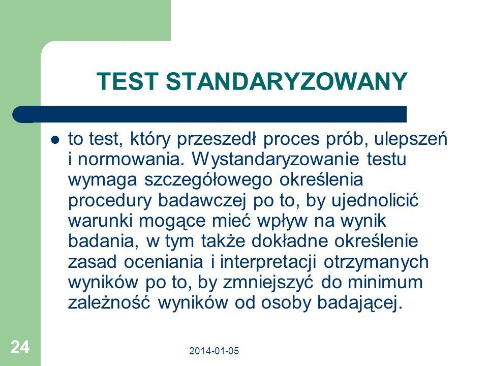TEST STANDARYZOWANY