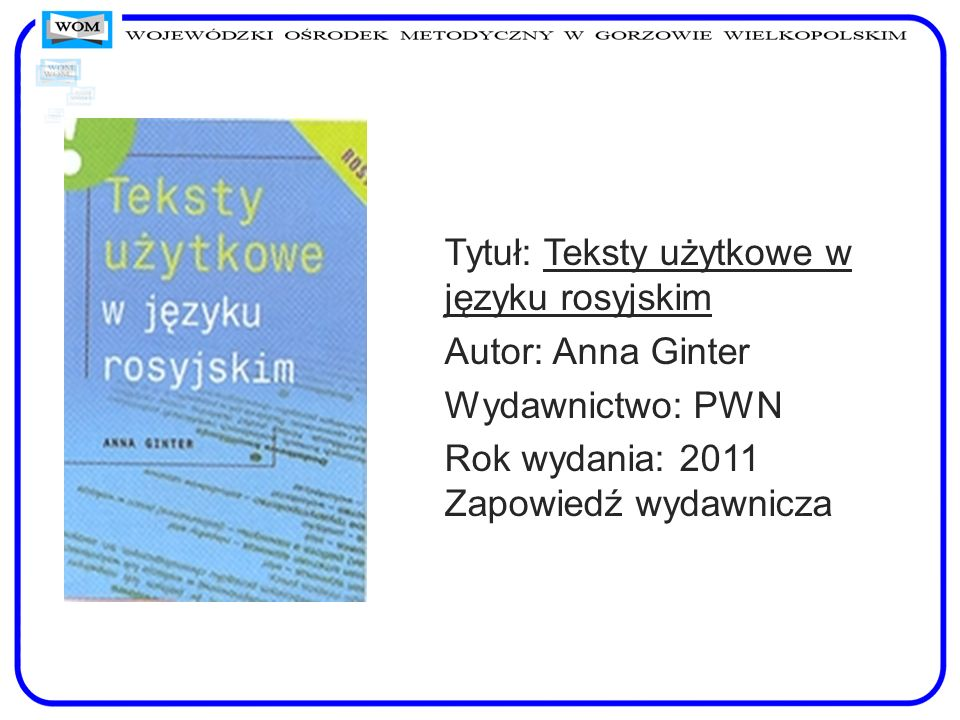 Tytuł: Teksty użytkowe w języku rosyjskim