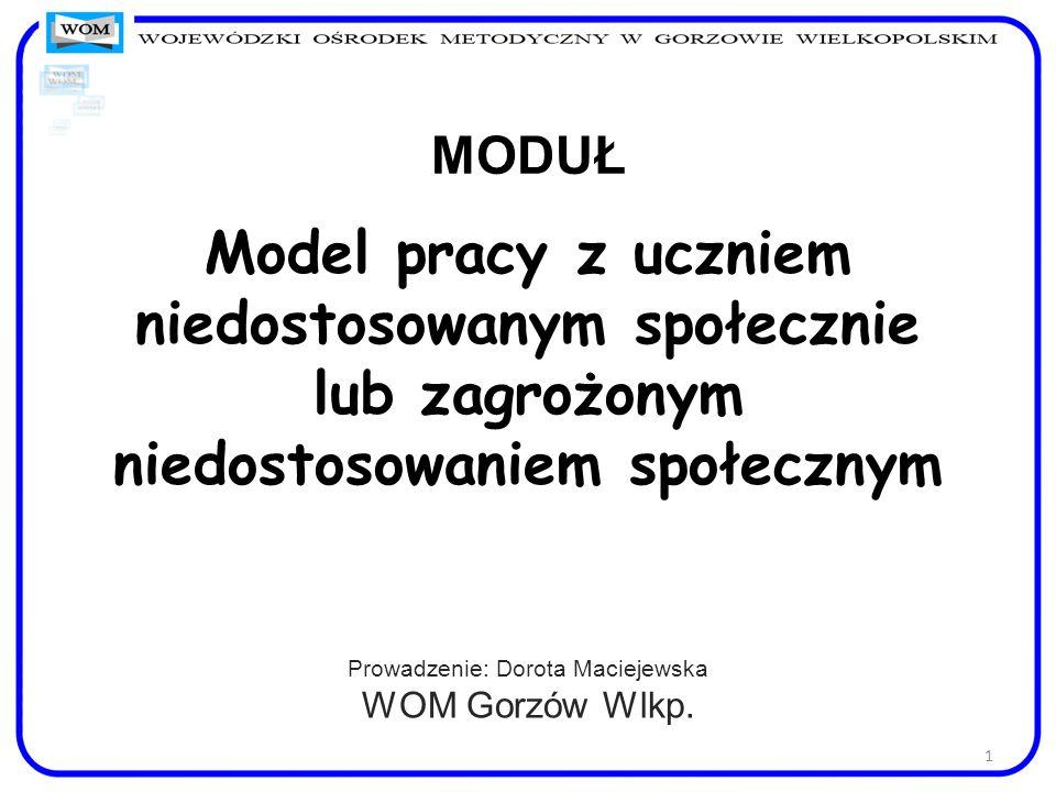 Prowadzenie: Dorota Maciejewska WOM Gorzów Wlkp.