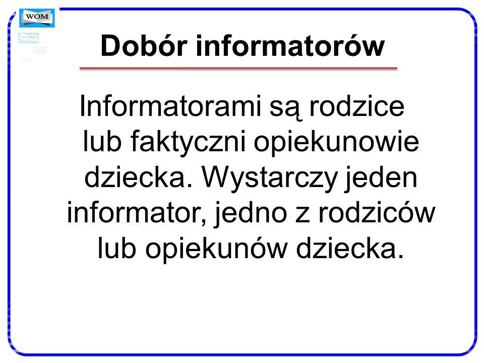 Dobór informatorów