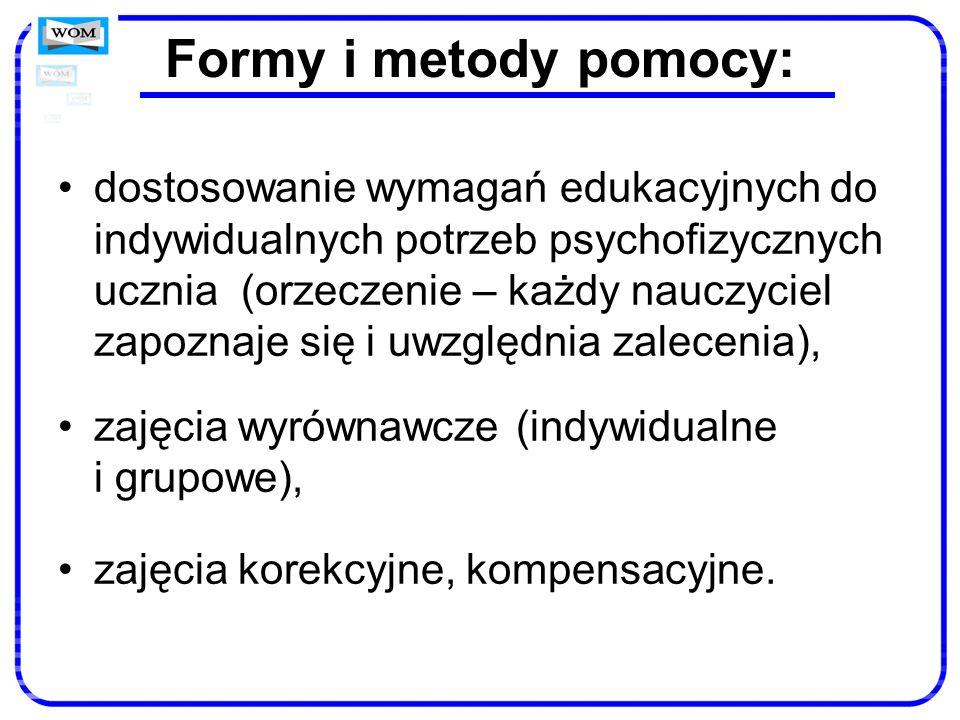Formy i metody pomocy:
