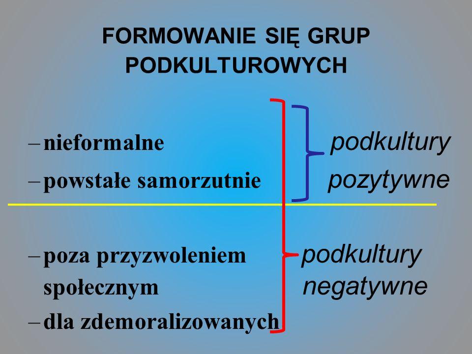 FORMOWANIE SIĘ GRUP PODKULTUROWYCH