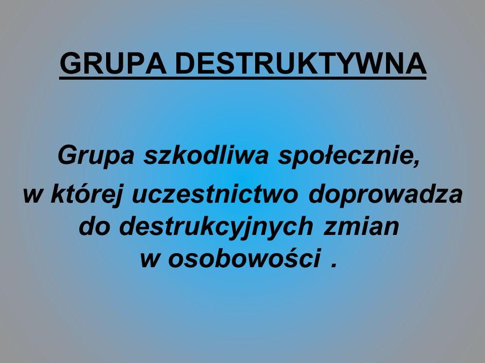 Grupa szkodliwa społecznie,