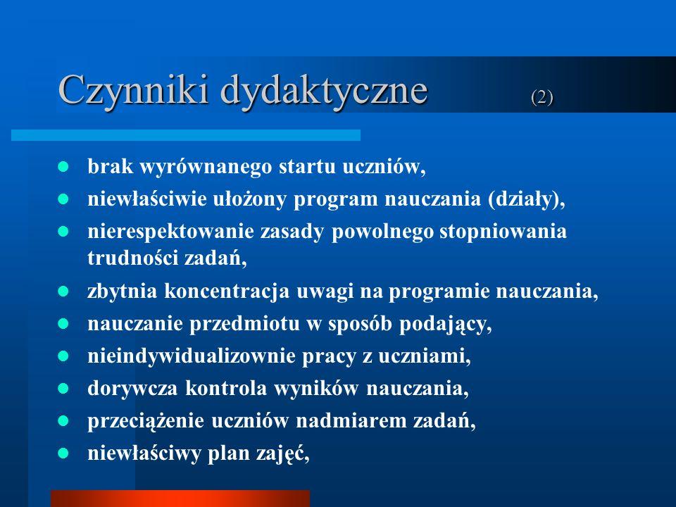 Czynniki dydaktyczne (2)