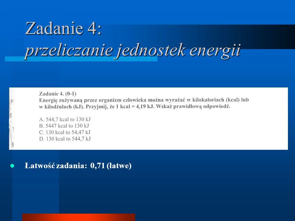 Zadanie 4: przeliczanie jednostek energii