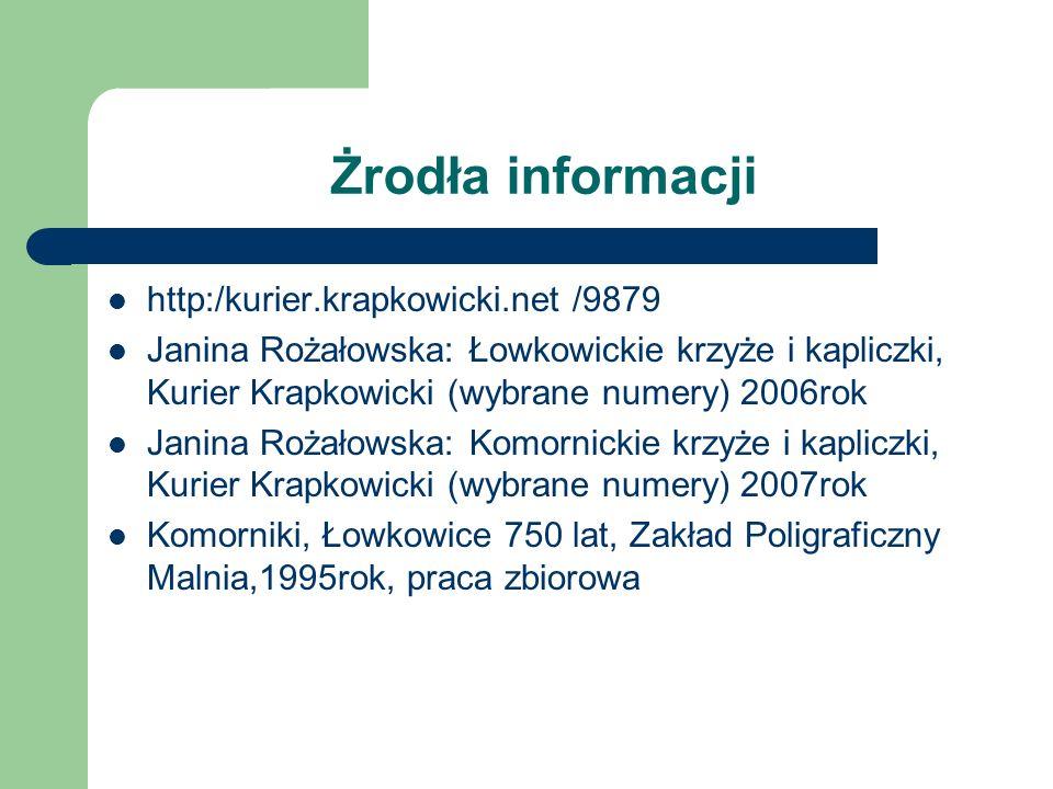 Żrodła informacji http:/kurier.krapkowicki.net /9879