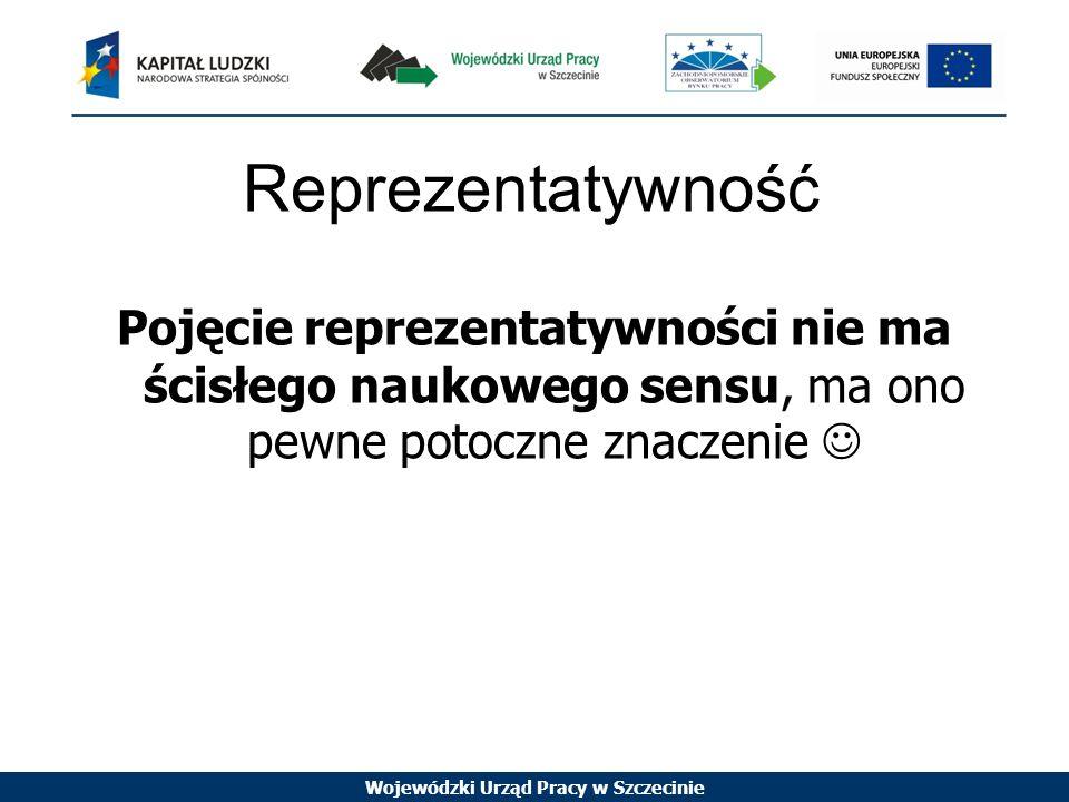 Reprezentatywność Pojęcie reprezentatywności nie ma ścisłego naukowego sensu, ma ono pewne potoczne znaczenie 