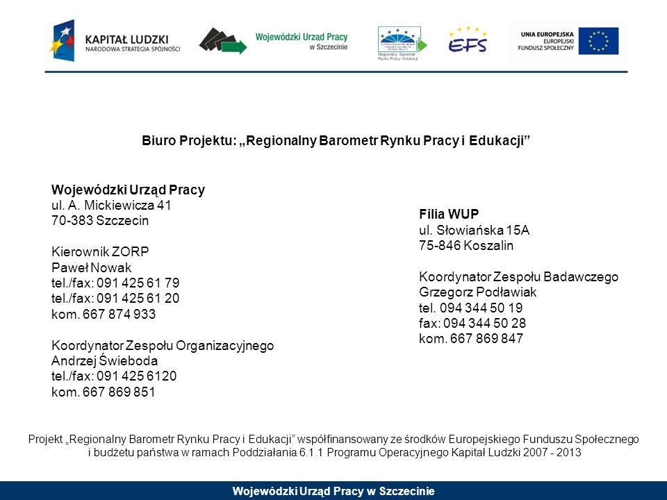 """Biuro Projektu: """"Regionalny Barometr Rynku Pracy i Edukacji"""