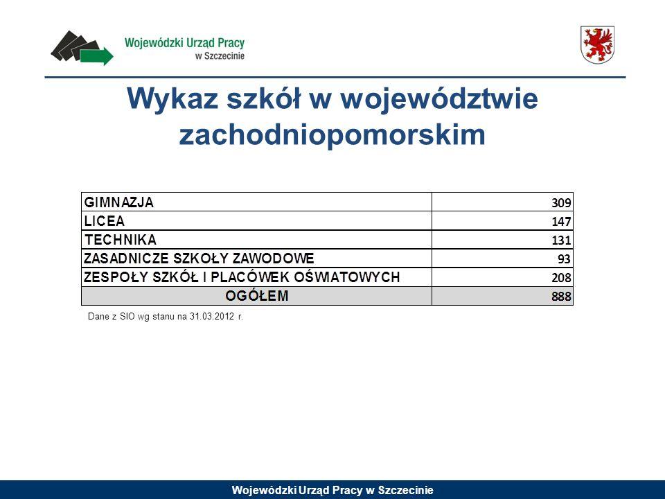 Wykaz szkół w województwie zachodniopomorskim
