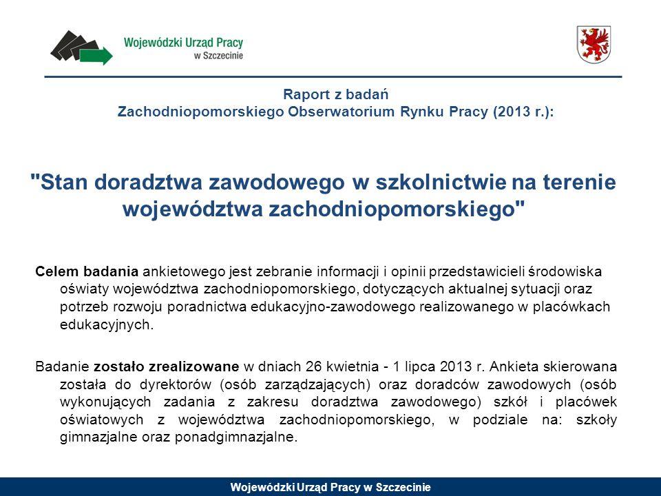 Raport z badań Zachodniopomorskiego Obserwatorium Rynku Pracy (2013 r