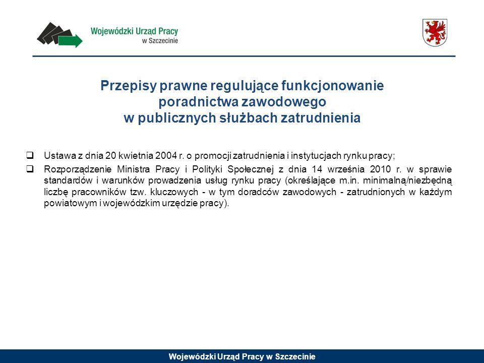 Przepisy prawne regulujące funkcjonowanie poradnictwa zawodowego w publicznych służbach zatrudnienia