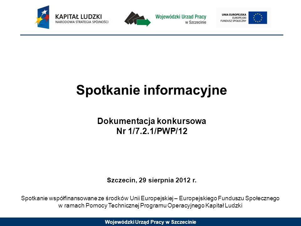 Spotkanie informacyjne Dokumentacja konkursowa