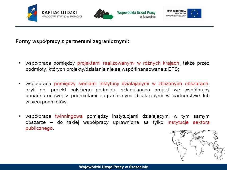 Formy współpracy z partnerami zagranicznymi: