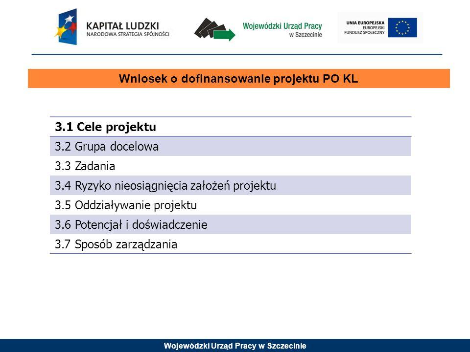 Wniosek o dofinansowanie projektu PO KL