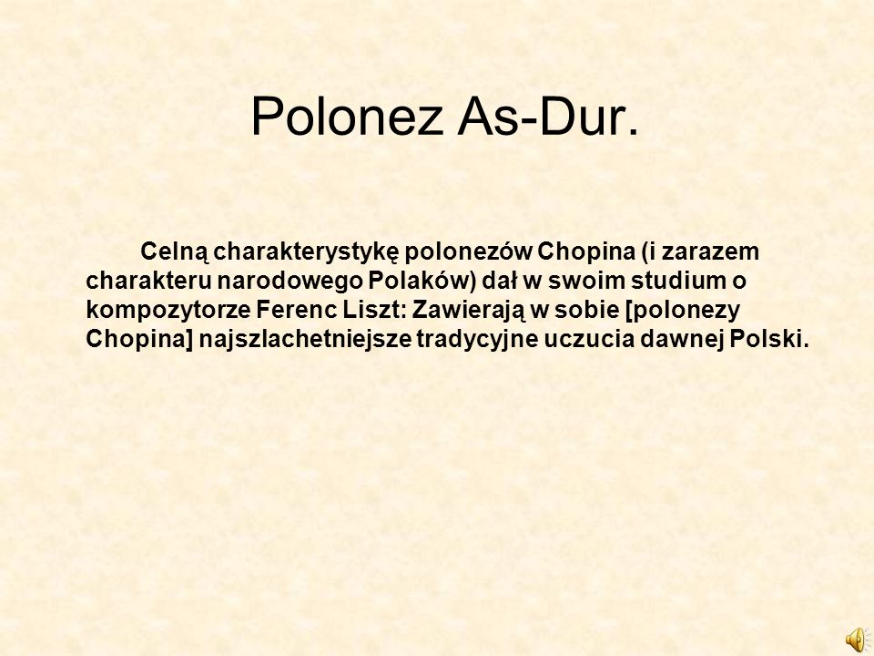 Polonez As-Dur.