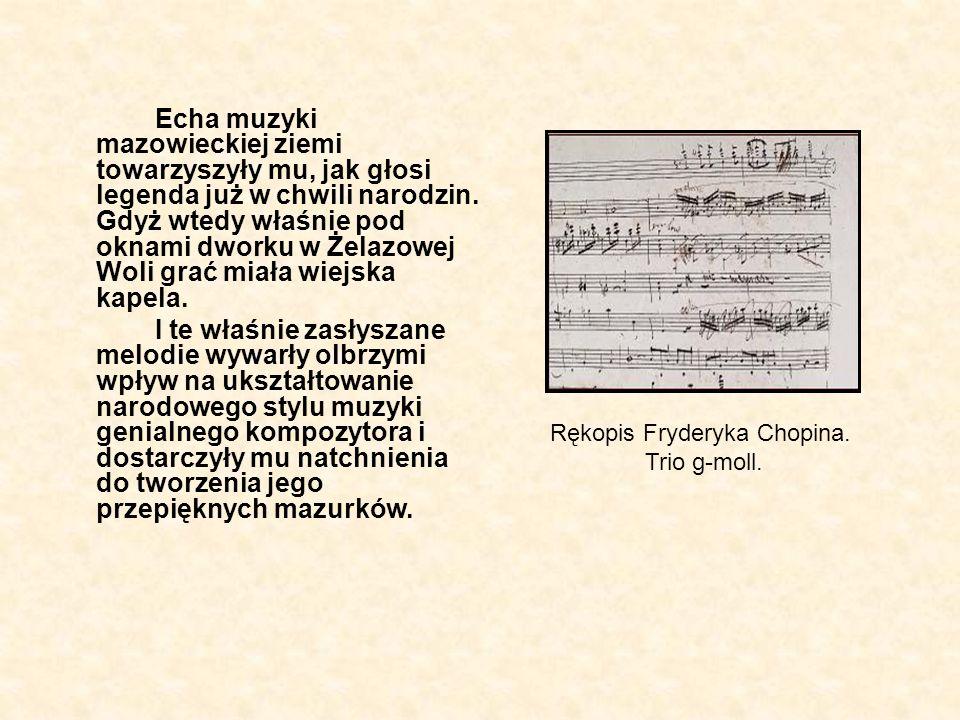 Rękopis Fryderyka Chopina.