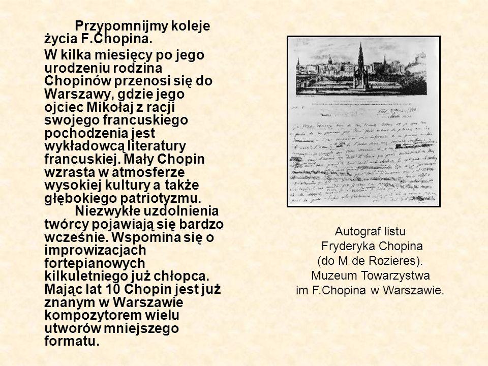 im F.Chopina w Warszawie.
