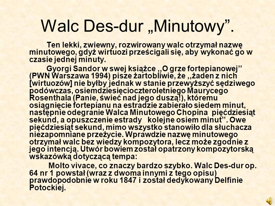 "Walc Des-dur ""Minutowy ."