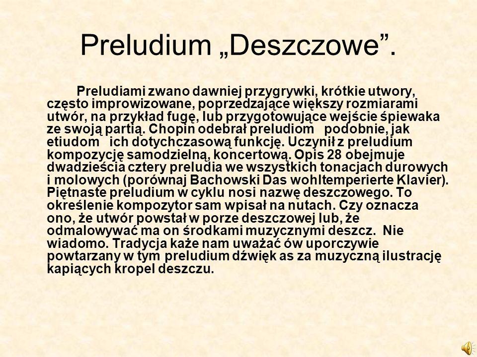 """Preludium """"Deszczowe ."""