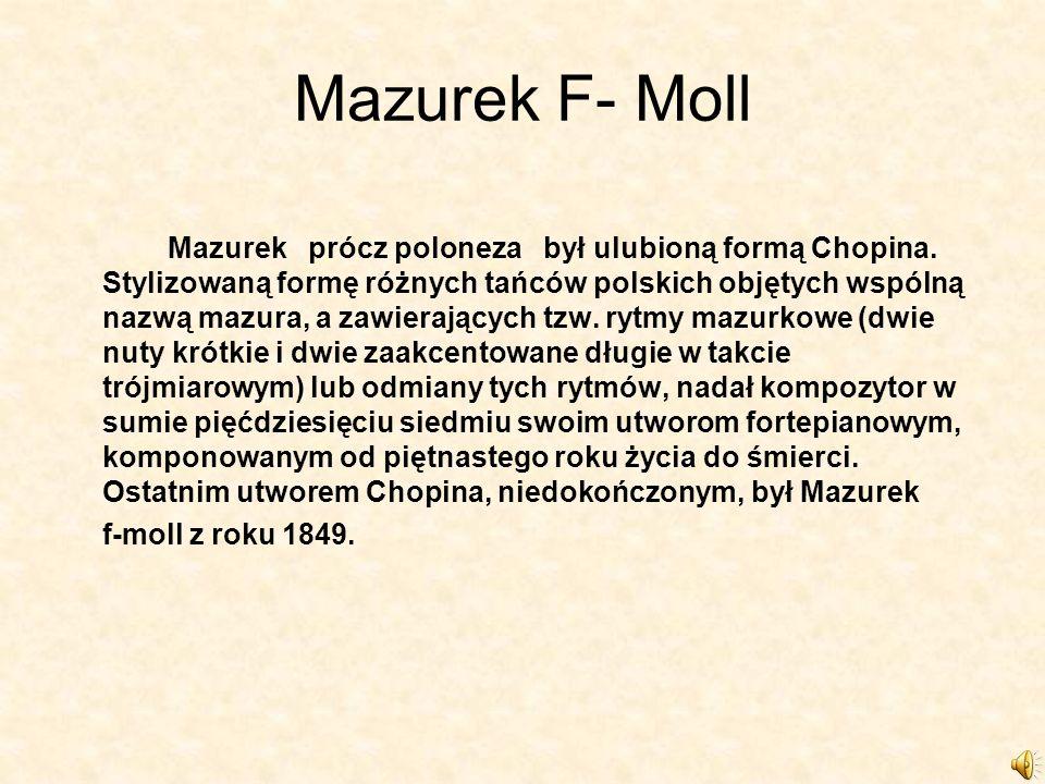 Mazurek F- Moll