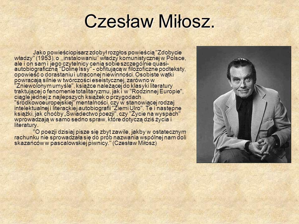 Czesław Miłosz.