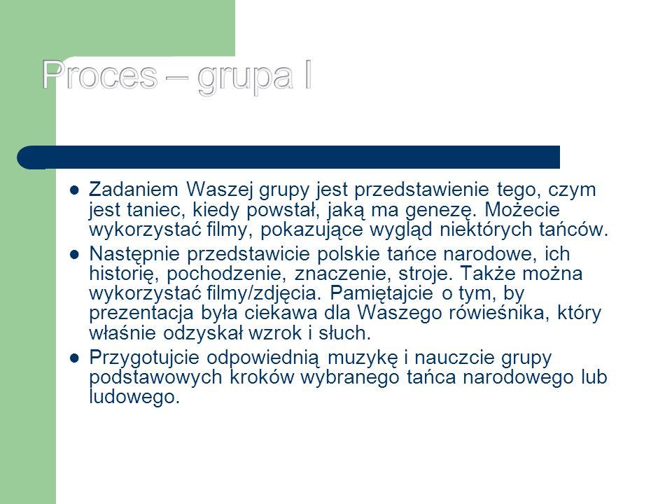 Proces – grupa I