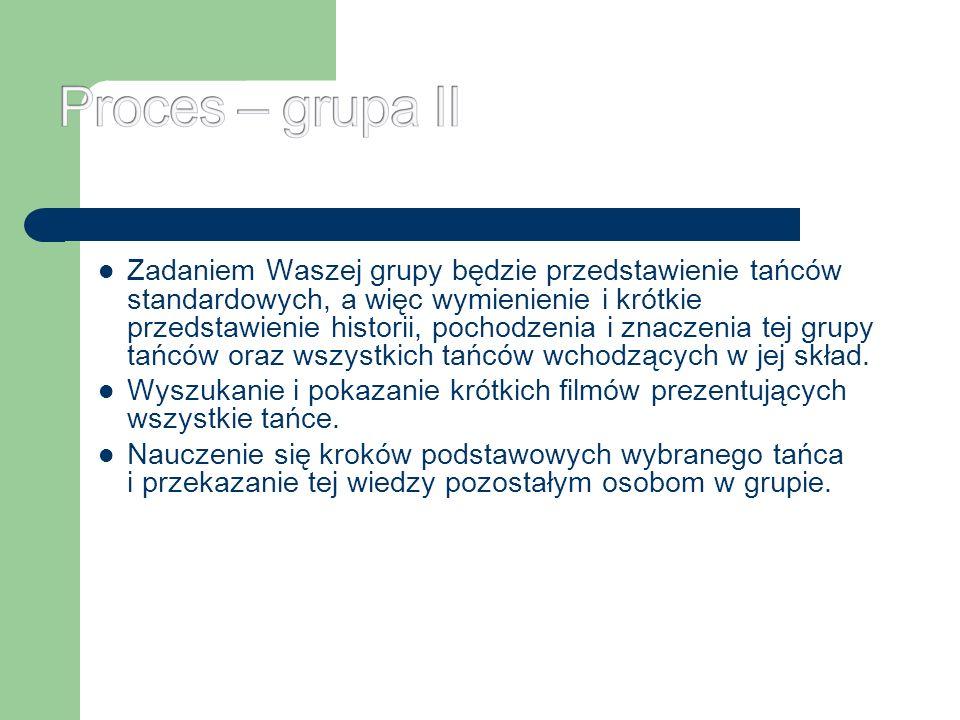 Proces – grupa II