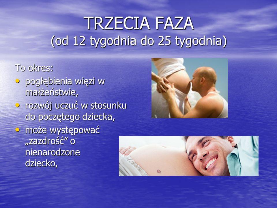 TRZECIA FAZA (od 12 tygodnia do 25 tygodnia)