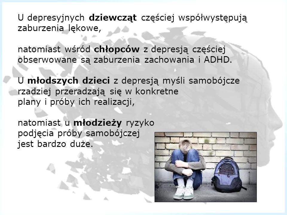 U depresyjnych dziewcząt częściej współwystępują zaburzenia lękowe,