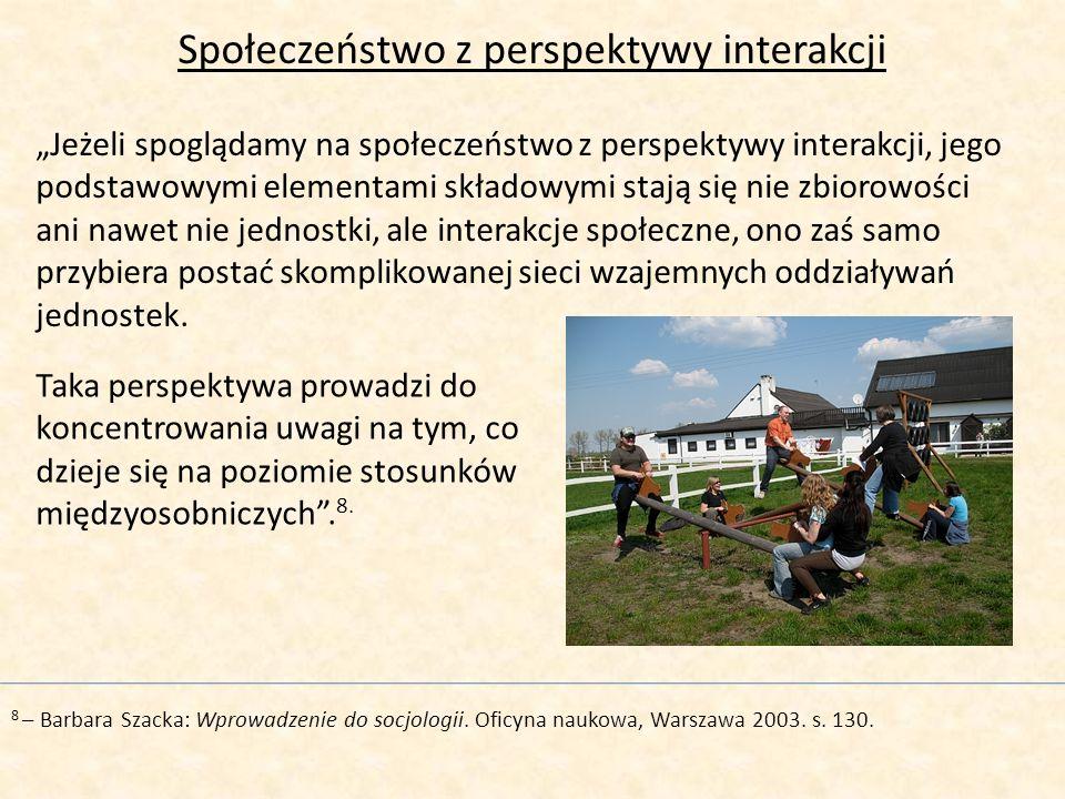 Społeczeństwo z perspektywy interakcji