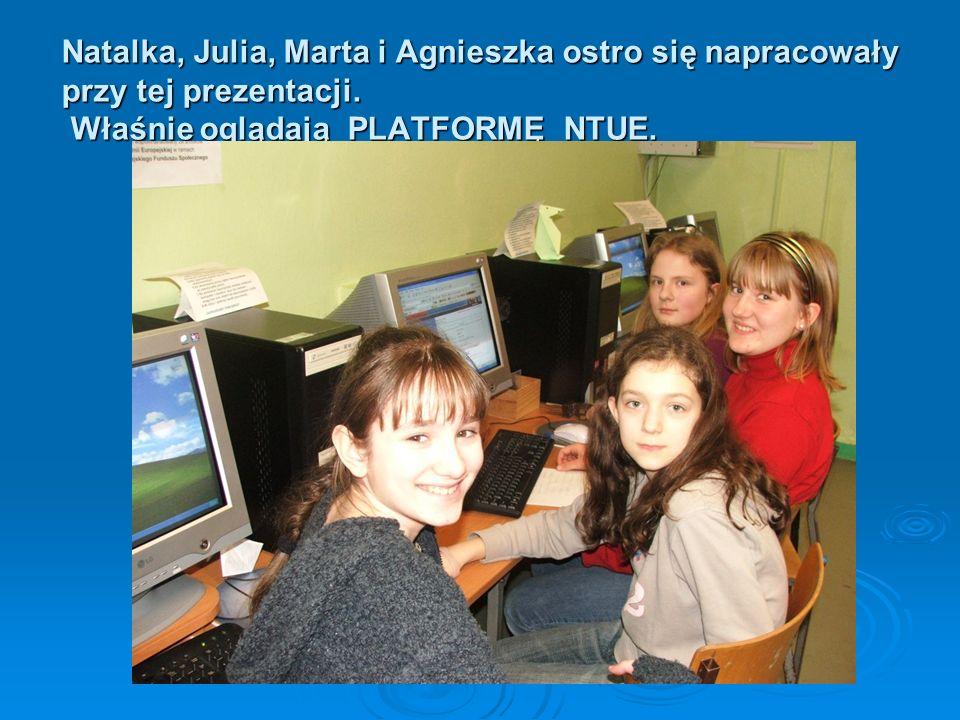 Natalka, Julia, Marta i Agnieszka ostro się napracowały przy tej prezentacji.