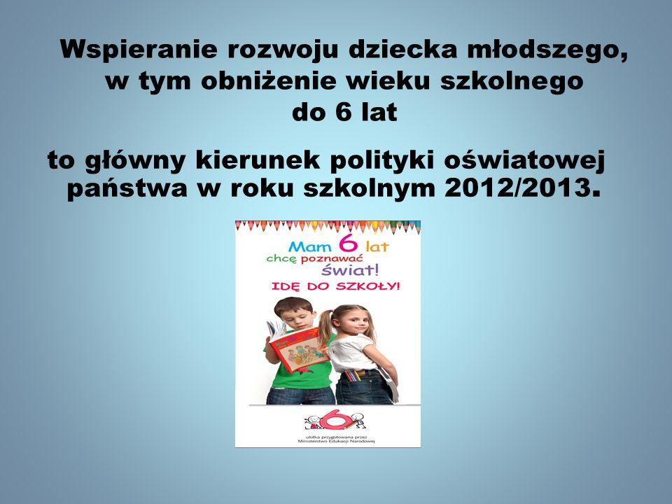 Wspieranie rozwoju dziecka młodszego, w tym obniżenie wieku szkolnego do 6 lat