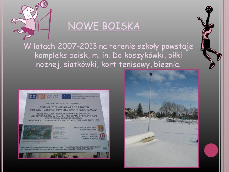 NOWE BOISKAW latach 2007-2013 na terenie szkoły powstaje kompleks boisk, m.