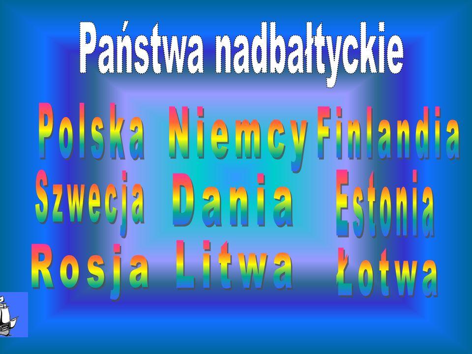 Państwa nadbałtyckie Polska Niemcy Finlandia Szwecja Estonia Dania Litwa Rosja Łotwa