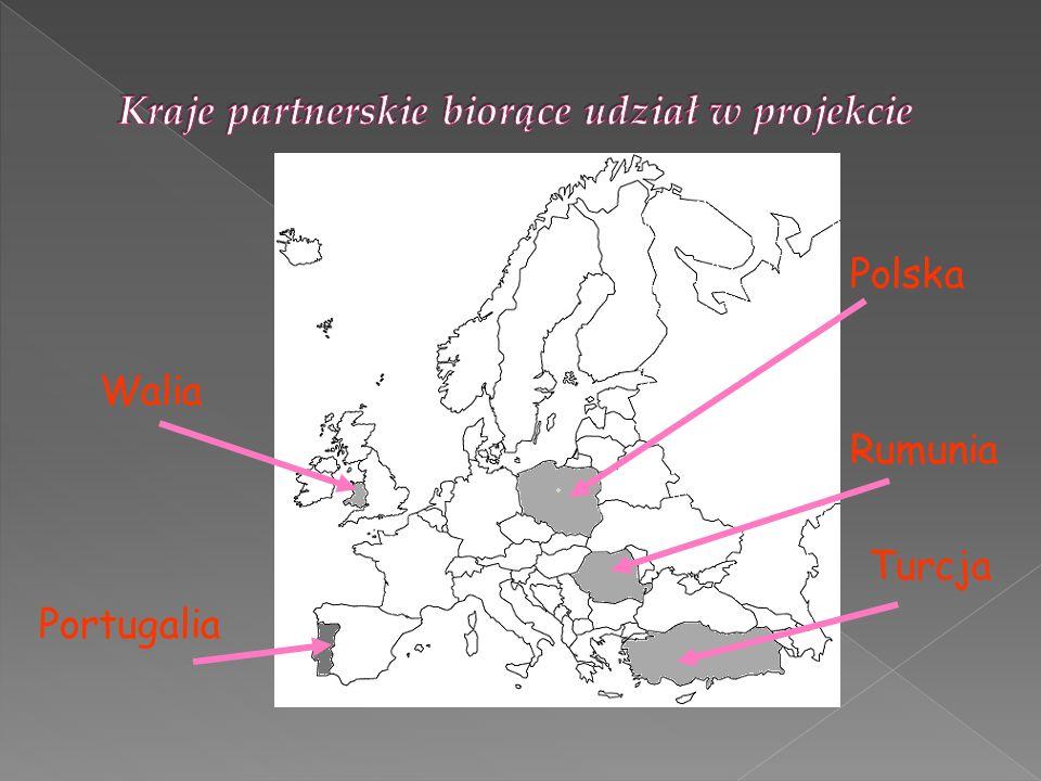 Kraje partnerskie biorące udział w projekcie