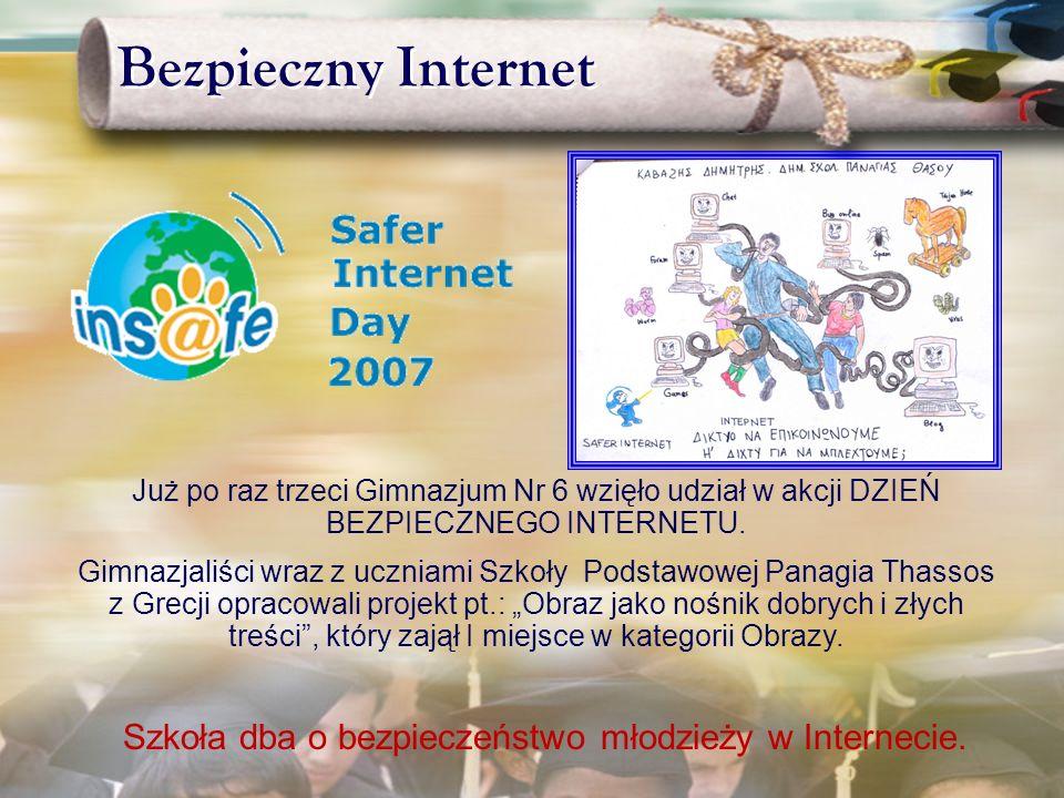 Szkoła dba o bezpieczeństwo młodzieży w Internecie.