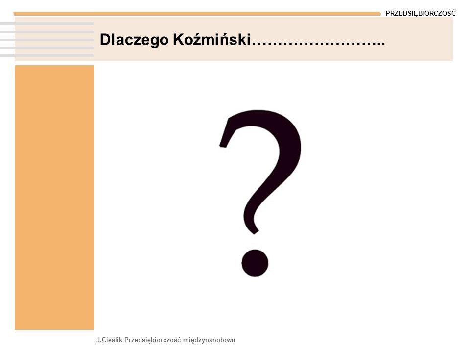 Dlaczego Koźmiński……………………..