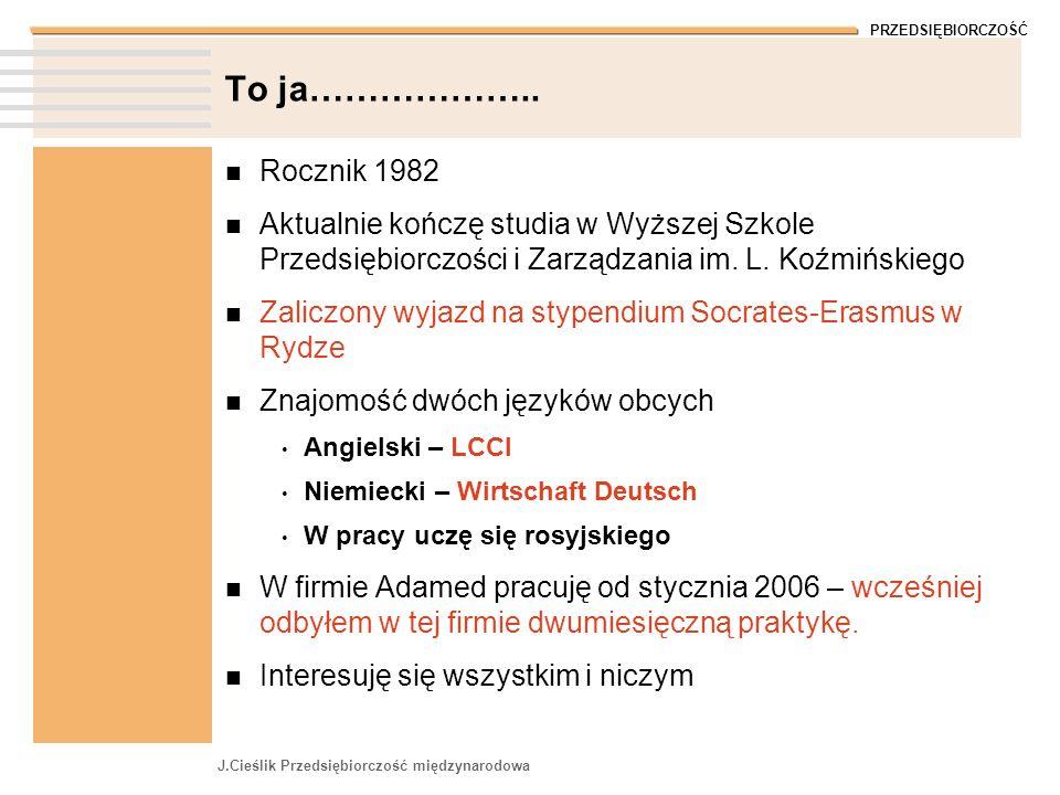 To ja……………….. Rocznik 1982. Aktualnie kończę studia w Wyższej Szkole Przedsiębiorczości i Zarządzania im. L. Koźmińskiego.