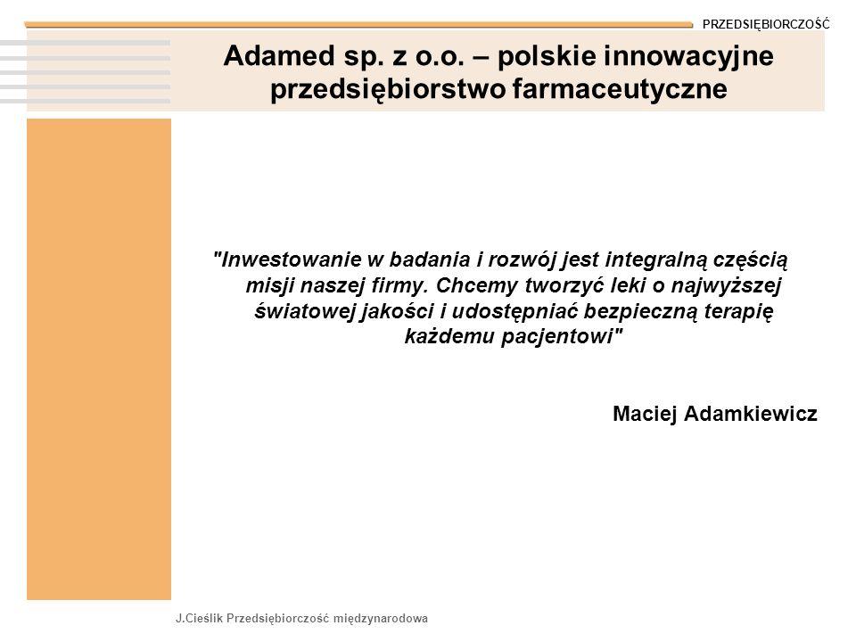 Adamed sp. z o.o. – polskie innowacyjne przedsiębiorstwo farmaceutyczne